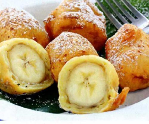 Бананы в яичном соусе