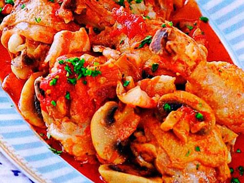 Цыпленок с помидорами