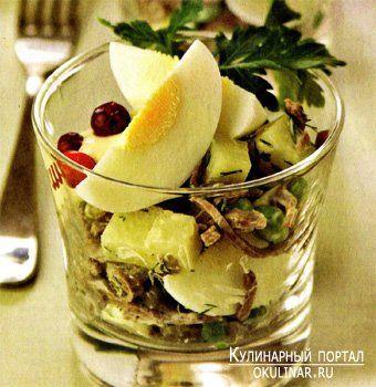 Мясной салат по-русски