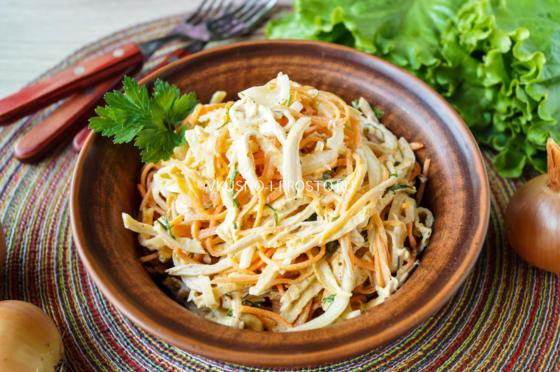 Омлет с морковью по-корейски