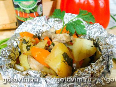 Овощи, запеченные в фольге
