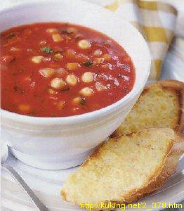 Овощной суп с тостами