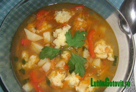 Постный суп по-кубански