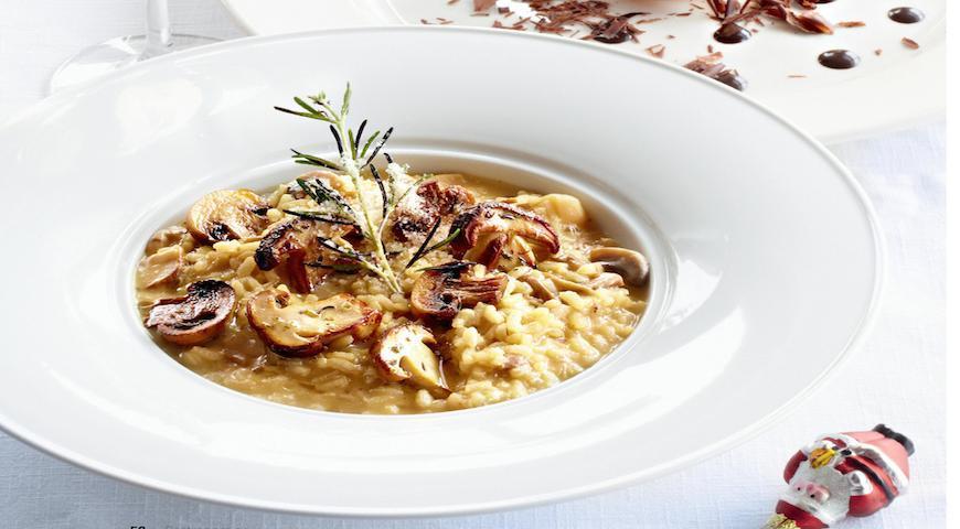 Ризотто с грибами (итальянская кухня)