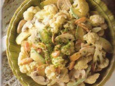 Салат с грибами и цветной капустой