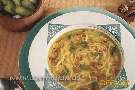Суп из баранины с баклажанами и стручковой фасолью