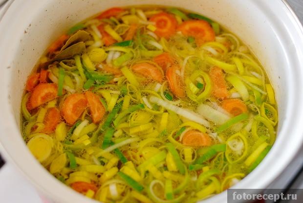 Суп из птицы с овощами