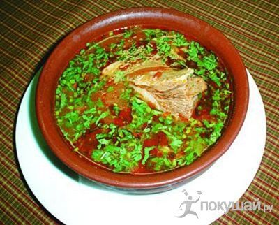 Суп-харчо из осетрины или севрюги с орехами