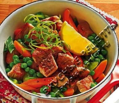 Свиное рагу с овощами