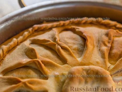 Татарский бэлиш с мясом и картофелем