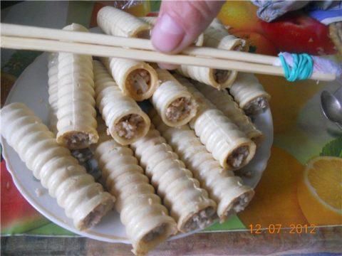 Трубочки с фаршем