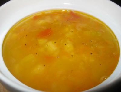 Тыквенный суп с горохом
