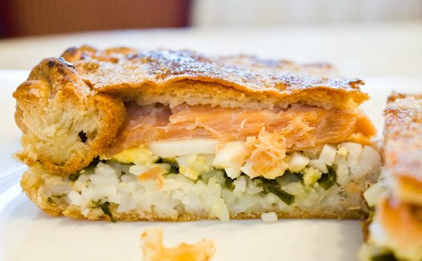 Воздушный рыбный пирог