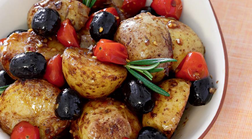 Закуска из картофеля с помидорами