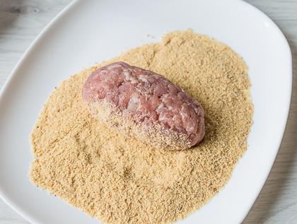 Зразы с солеными огурцами и луком
