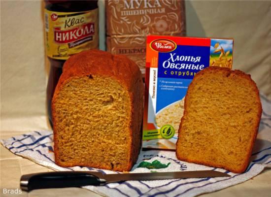 Английский хлеб Хлеб пшеничный с овсяными хлопьями