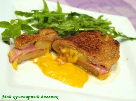Мясо, фаршированное белокочанной капустой и редькой