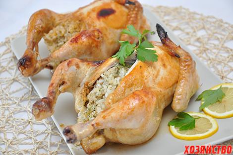 Огурцы, фаршированные мясом цыпленка и рисом