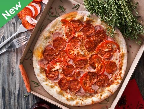 Пицца тыквенно-мясная