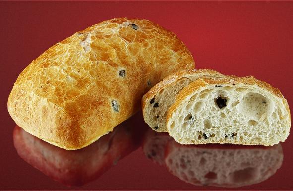 Хлеб пшеничный «Чиабатта» с маслинами