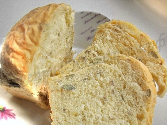 Хлеб пшеничный «Чиабатта» с семенами подсолнечника