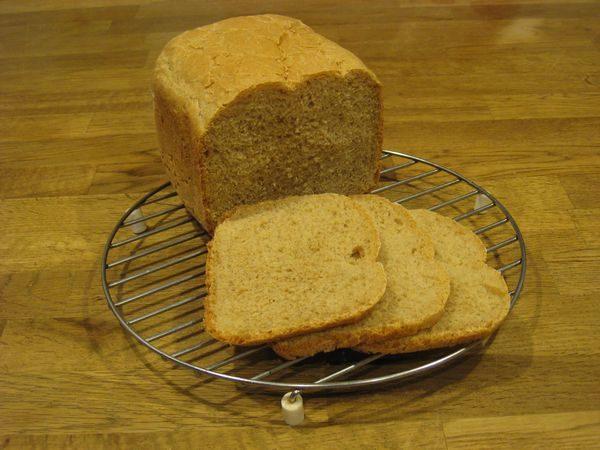Хлеб пшеничный с отрубями и луком-пореем