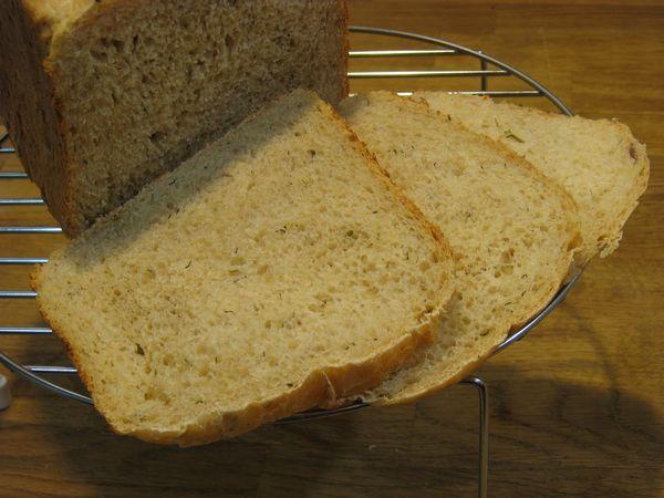 Хлеб пшеничный с отрубями, капустой и луком