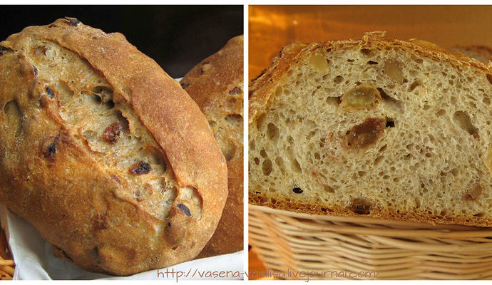 Хлеб ржаной диетический с творогом и изюмом