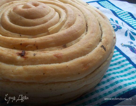 Хлеб ржаной с базиликом и черным перцем