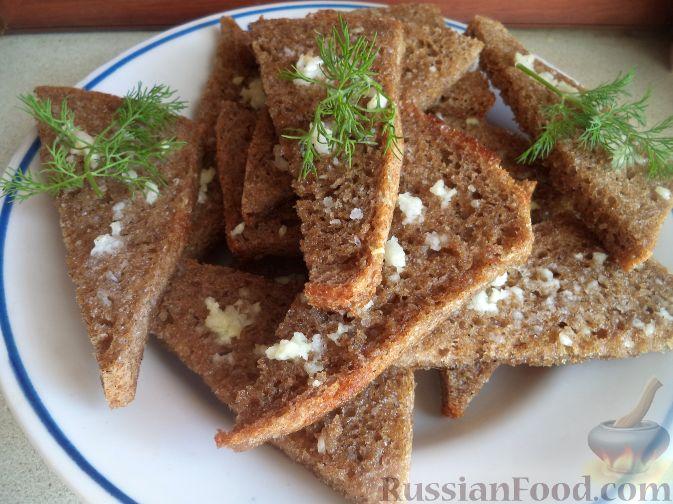 Хлеб ржаной с чесноком