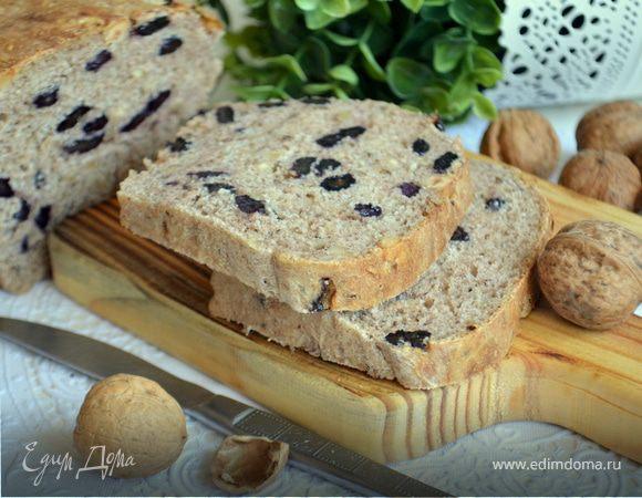Хлеб ржаной с изюмом и грецкими орехами