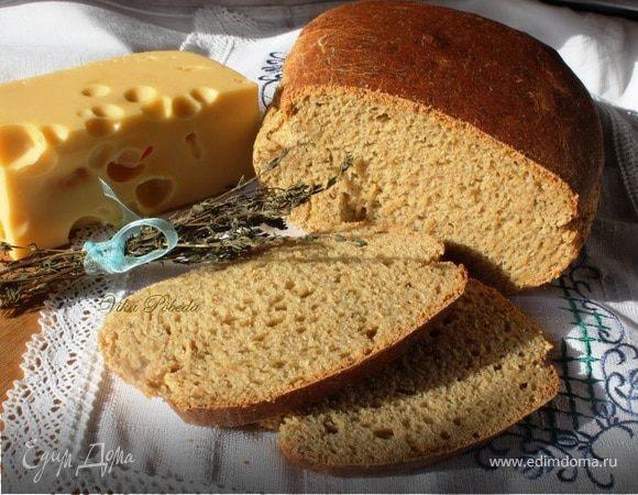 Хлеб ржаной с картофельным пюре и сыром