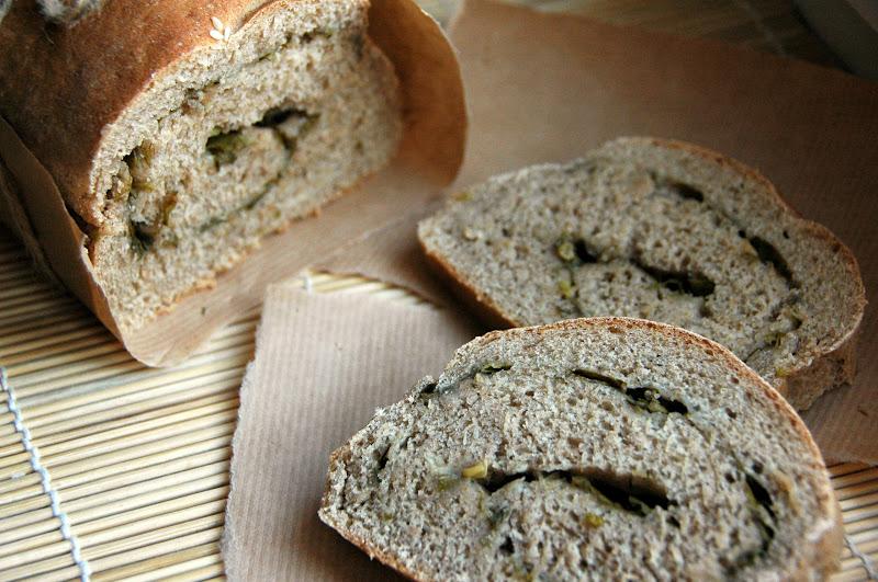 Хлеб ржаной с петрушкой лимонным соком