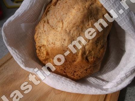 Хлеб пшеничный с отрубями и белокочанной капустой