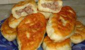 Пирожки жареные с говядиной