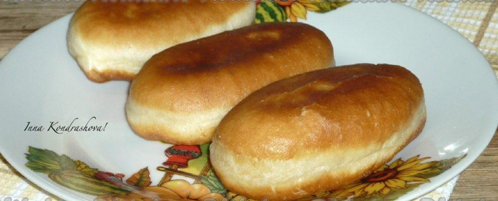 Пирожки жареные с картофелем и шкварками