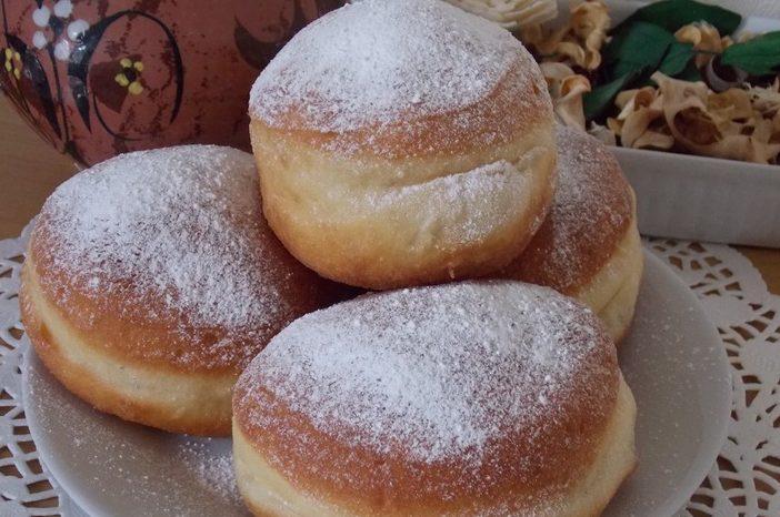 Пончики жареные с вареньем по-польски